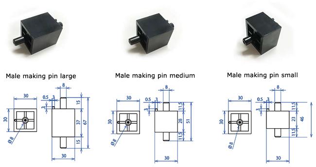Male making pins